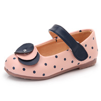 Girls White Dress Shoes Models Flower Princess Shoes Light Leather Korean Students 3 Color Baby Leather