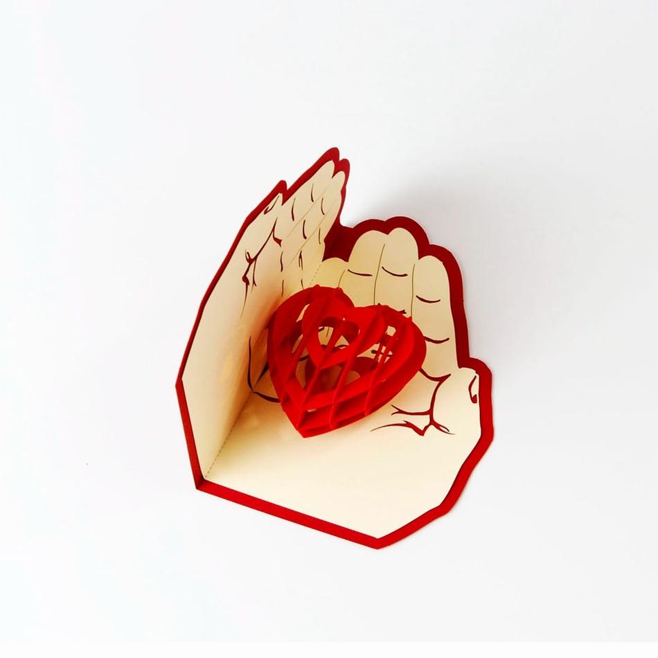 Картинки, открытка сердце в ладонях шаблоны
