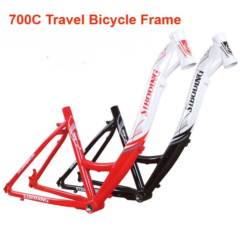 Last Leisure Bicycle 26*16 Inch 1600g MTB Mountain Bike Aluminum Alloy Frame 26-inch/700C Travel Bicycle Frames With Headset