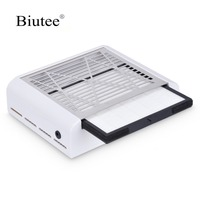 Biutee 2019 New Strong Power 40W Nail Dust Collector Vacuum Cleaner Fan Nail Fan Art Salon Suction Dust Collector Nail Machine