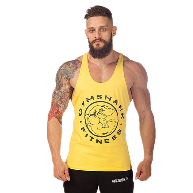 750909d1b77cc 2016 New Shark Tank Top Men Bodybuilding Clothing and Fitness Mens  Sleeveless Shirt Vests Cotton Fashion Singlets Muscle Tops