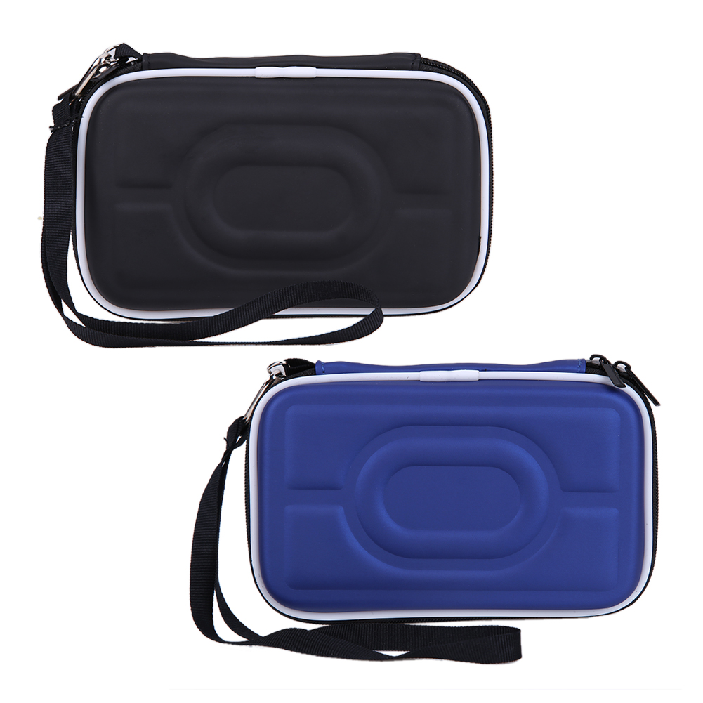 VIP LINK Black Portable Hard Carry Case Cover Bag Zipper EVA Carrying Case Cover Pouch 2.5