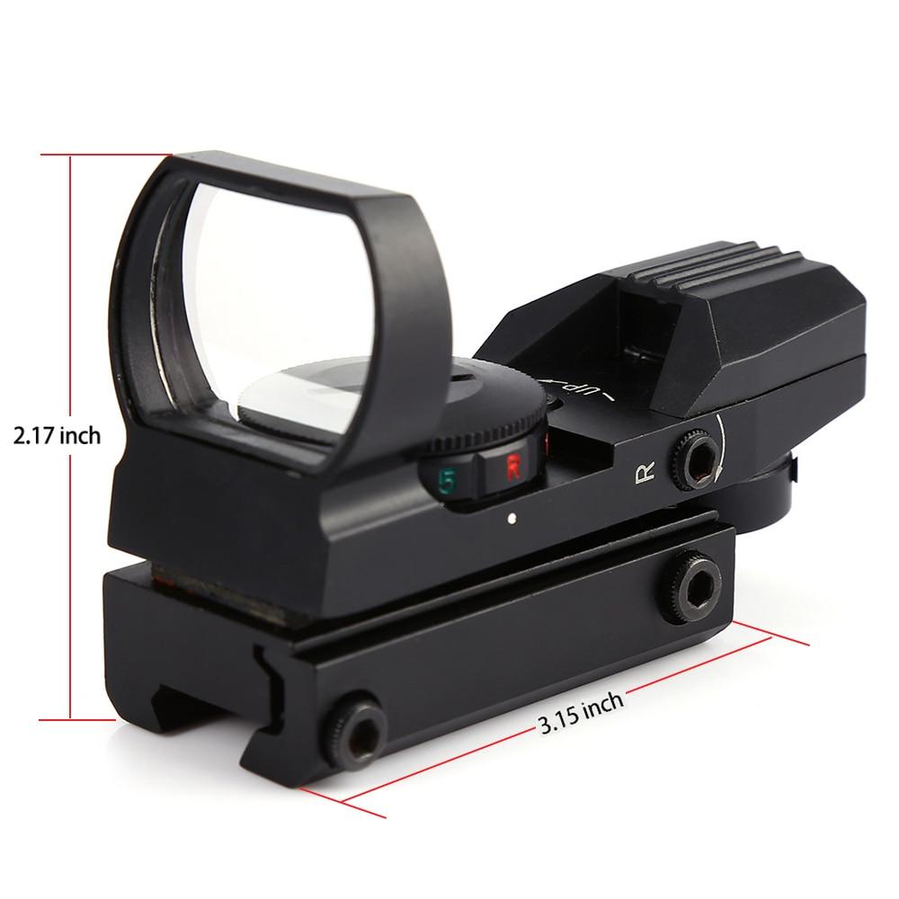 Qırmızı nöqtə dairəsi 11mm / 20mm Dovetail Riflescope Reflex - Ovçuluq - Fotoqrafiya 3