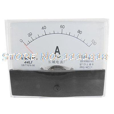 44L1-A 100x80mm Panel AC 0-100A AMP Analog Meter Ammeter44L1-A 100x80mm Panel AC 0-100A AMP Analog Meter Ammeter