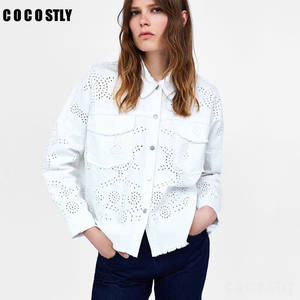 ac5cc6aa6cd950 COCOSTLY Autumn Denim Jacket Long Sleeve Female Jeans Coat