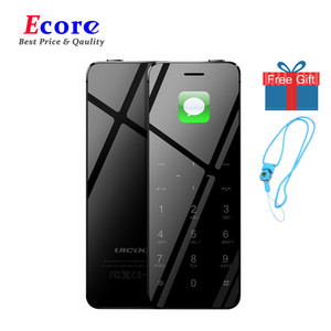 Ulcool V36 Metal Body Bluetooth 2.0 Dialer Anti-lost Dual SIM Ultrathin Credit Card Mobile Cell Phone+Case +Screen Protector