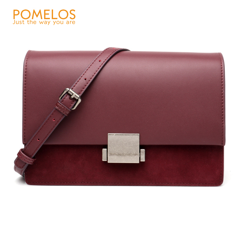 POMELOS New Women Leather Handbags Vintage Versatile Shoulder Genuine Leather Bags For Women Small Flap Crossbody Messenger Bags new women genuine leather handbags shoulder messenger bag fashion flap bags women first layer of leather crossbody bags