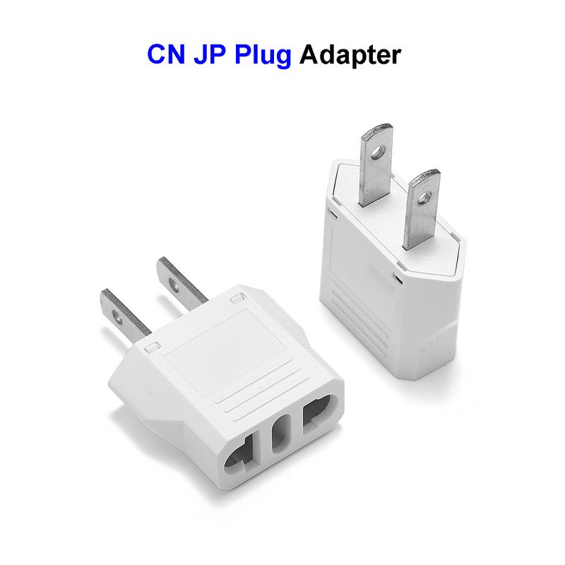 European To American Electric Socket Power Adapter Outlet Heavy Duty Travel Plug