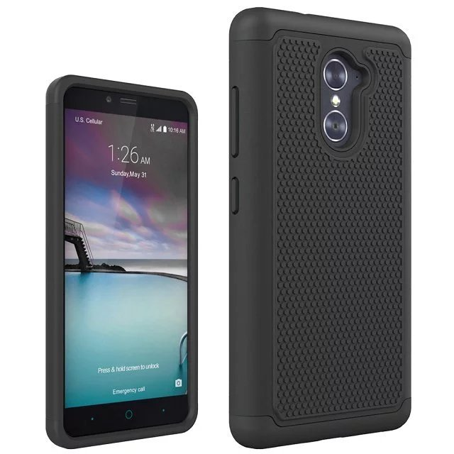 For ZTE Z963U Imperial Max / Z988 Grand X MAX 2 / ZMAX PRO PC+ Silicone Dual Layer Rugged Impact Shield Case For ZTE Z963U Cover