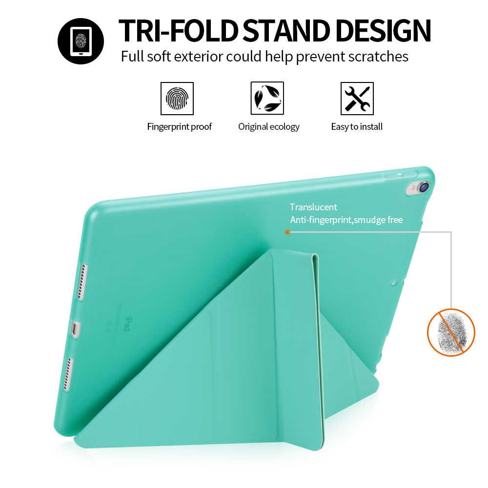 Bao Da PU Cho Ipad Pro 10.5 Inch 2019 Smart Cover Cho iPad Pro 10.5 Không Khí 3 2019 Mềm Mại ốp Lưng Dẻo Silicon Dành Cho iPad Air 2 1