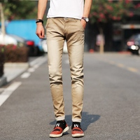 2017 New Street Style Six Color Elastic Jeans Men Pencil Jeans High Stretch Jeans Homme Skinny