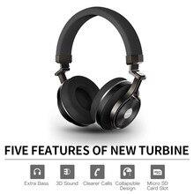 Bluedio T3 +/T3 Plus Bluetooth наушники глубокий бас беспроводная гарнитура с SD/Memory слот для карт памяти металлический материал черный