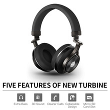 Wholesale Bluedio T3+/T3 Plus Bluetooth headphones deep bass wireless headset with sd card slot and microphone for music and phone
