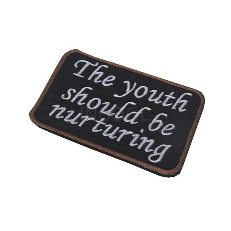Вышитая нашивка Молодежная должна питать боевой дух нашивка тактическая эмблема значки вышивка нашивки для курток рюкзак Кепка