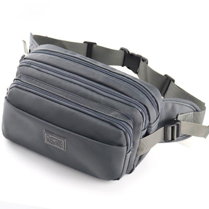 Waterproof Nylon Men Travel Bum Bag Male Fanny Waist Pack High Capacity Zipper Shoulder Bag Money Phone Pouch Chest Bag Hip Pack