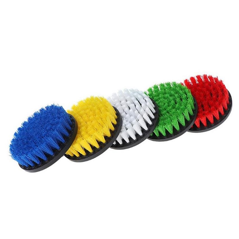 4inch Drill Power Scrub Clean Brush For Leather Plastic Wooden Furniture Car Interiors Cleaning Power Scrub, Mutiple Colors