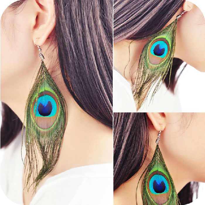 ต่างหู Stylish ผู้หญิง Boho สำหรับต่างหู Luxury Feather Dangle Boucle D'oreille Femme 2019 Kolczyki Pendientes Mujer L0614