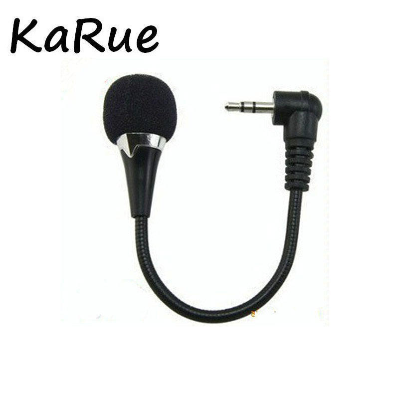 Karue Mini Portable Clip-on Lapel Lavalier Hands-free 3.5mm Condenser Wired Microphone Mic For Phone Pad Smartphones Computer