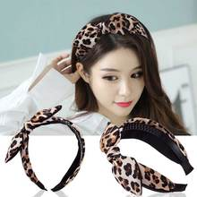 1pc Hot Sale 3 Styles 2 Colors Leopard Bow Shape Girls Headband Women Hair Jewelry Band for Ladies Hairbands
