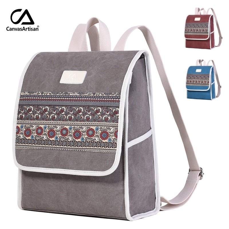 8340c4d68dbb 2019 бренд холст рюкзак для ноутбука 13