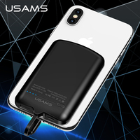 USAMS Mini 2A Nano Adsorption Back Clipped Power Bank 4000mah External Power Bank Battery Charger for iPhone Android USB General