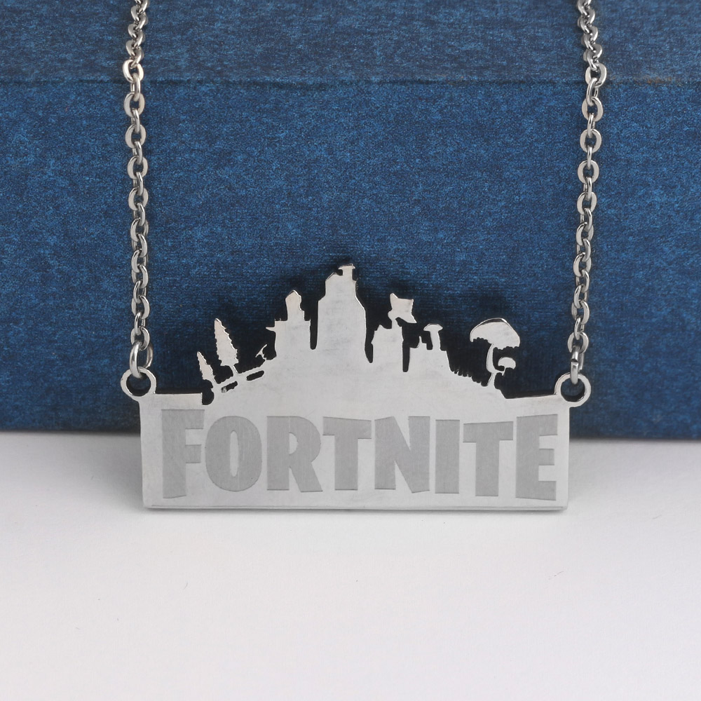 Fashion Jewelry Game Fortnite Battle Royal Nacklace Stainless Steel Necklaces Pendants Women Men Jewelry Gift