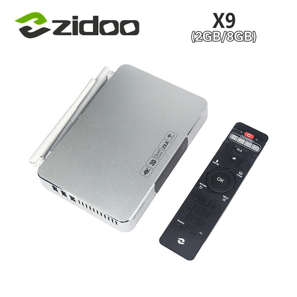 [Genuine] ZIDOO X9 Smart Android TV BOX MSTAR MSO9180D1R CPU 2GB/8GB 802.11n WIFI 7.1 Passthrough 4K H.265 USB3.0 White Blu-ray zidoo x6 pro 4k2k h265 smart android 51