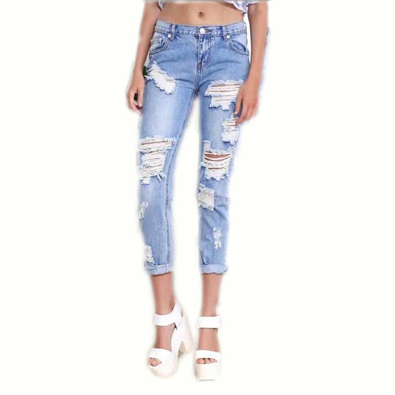 HMCHIME High quality pure cotton women jeans fashion vintage ripped hole bleached patchwork zippers cowboy denim pants D170 model jd 15 transmission gearbox for tamiya truck
