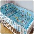 Promoción! 6 unids Hello Kitty en la cuna ropa de cama de bebé cuna de bebé parachoques ( bumpers + hojas + almohada cubre )