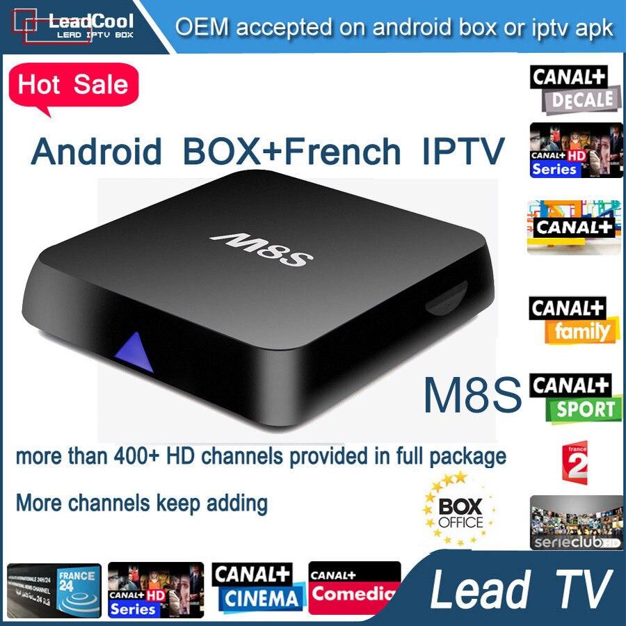 M8S IPTV BOX XBMC Android 4 4 4K Arabic iptv 1 year leadtv