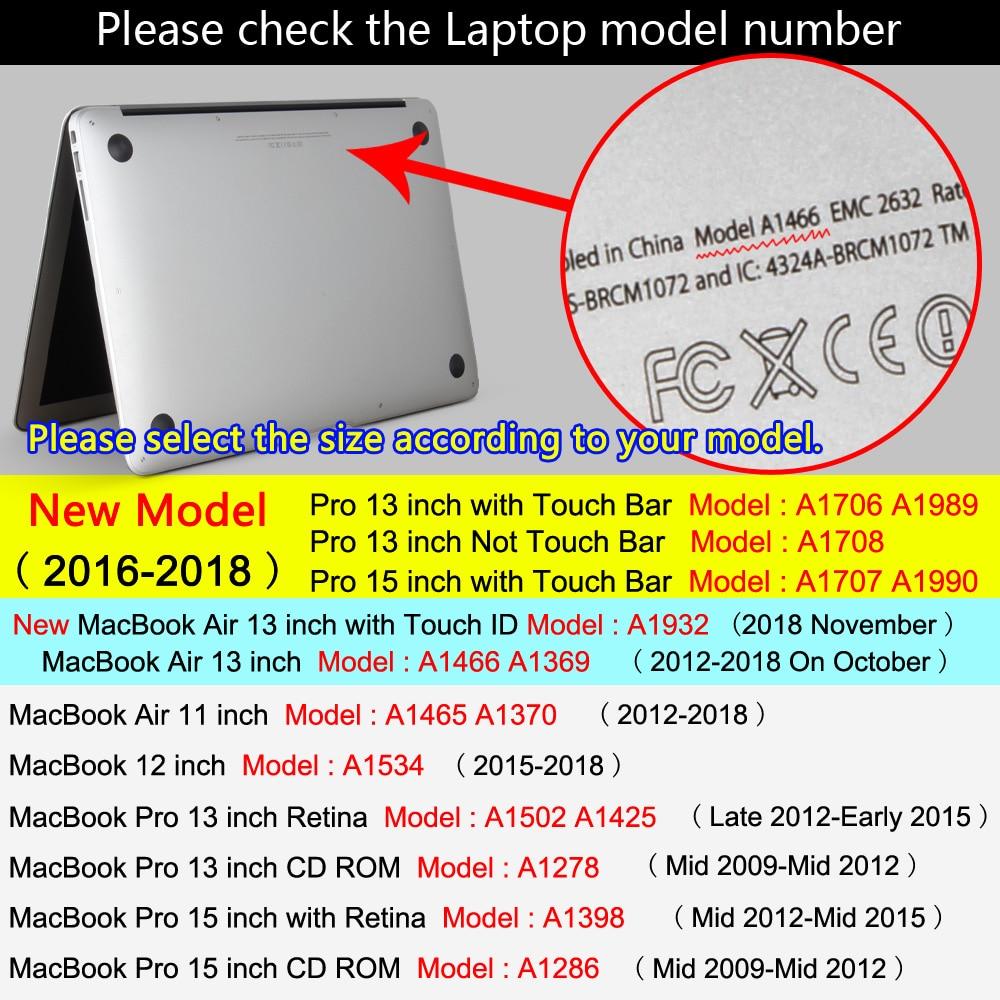Jauna klēpjdatora futlāris Apple MacBook Air Pro tīklenei 11 12 13 - Klēpjdatoru piederumi - Foto 5