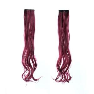 Синтетические накладные волосы Similler, с цветными полосками, на клипсе, 22 дюйма, длинные прямые волосы для любителей