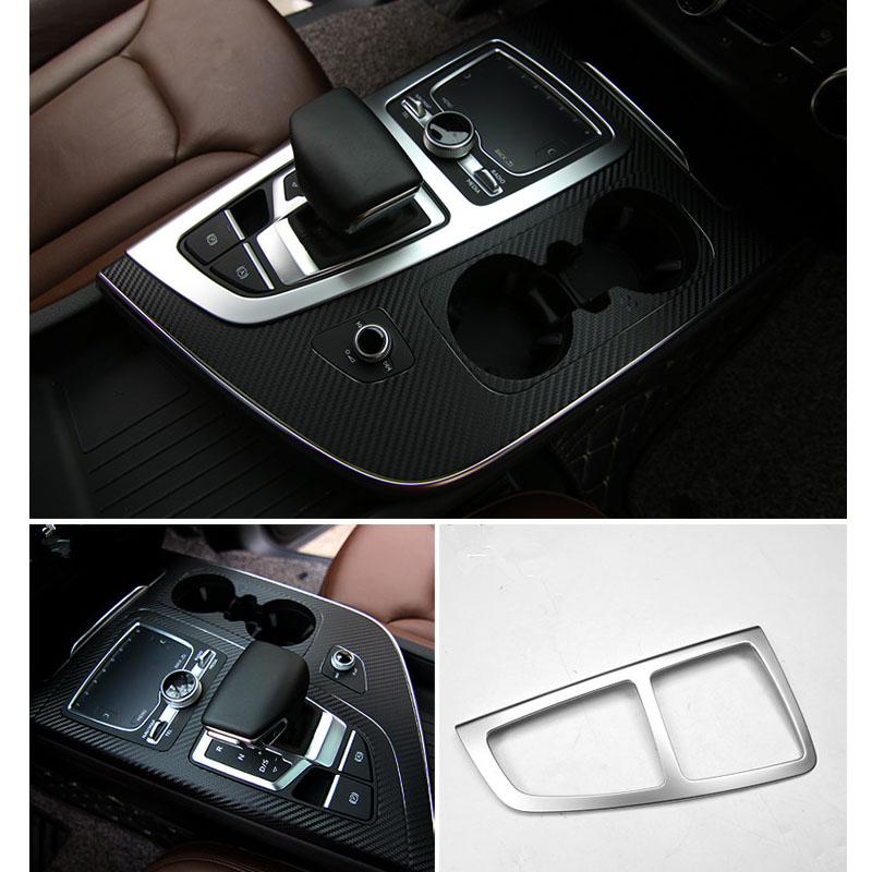 3D Interior Car Gear Position Cover For Audi Q7 2016 2017