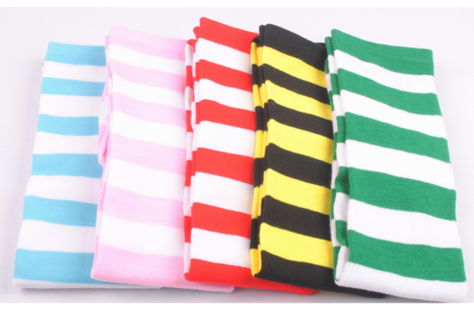 1Pair New Women's Over The Knee Large Size Stockings Sexy Thighs High Stripes Pattern Sock 6 Color Sweet Cute Warm Winter 2019 (10)