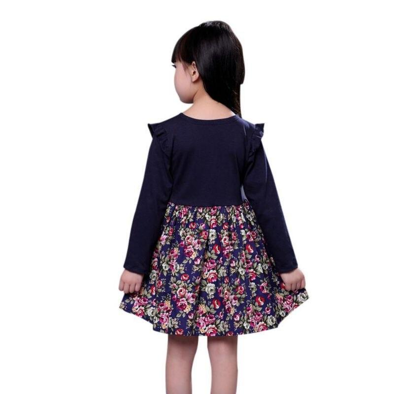 Princess-Girl-Flower-Pattern-Print-Dress-Full-Sleeve-with-Sashes-Cute-Baby-Girls-Dress-4