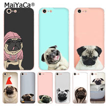 Maiyaca animal bonito pug cão moda de luxo caso telefone para apple iphone 11 pro 8 7 66 s plus x 5S se xr xs max capa(China)