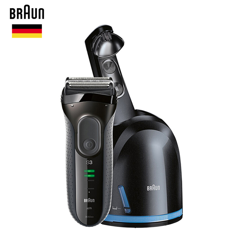 Braun Electric Shaver Series 3 ProSkin 3050cc Rechargeable Razor For Men Beard Shaving Machine With Clean & Charge System,Black braun electric foil shaver series 3 proskin 3040s rechargeable razor for men shaving machine wet