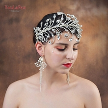 YouLaPan HP250 Wedding decorations on the head wedding headband crown rhinestone crystal hair jewelry for girlfriend