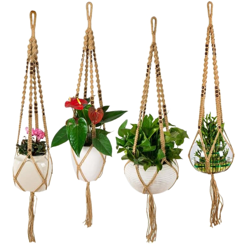 decorative baskets dried flowers small baskets country basket.htm 4pcs macrame plant hanger indoor outdoor hanging planter net  indoor outdoor hanging planter