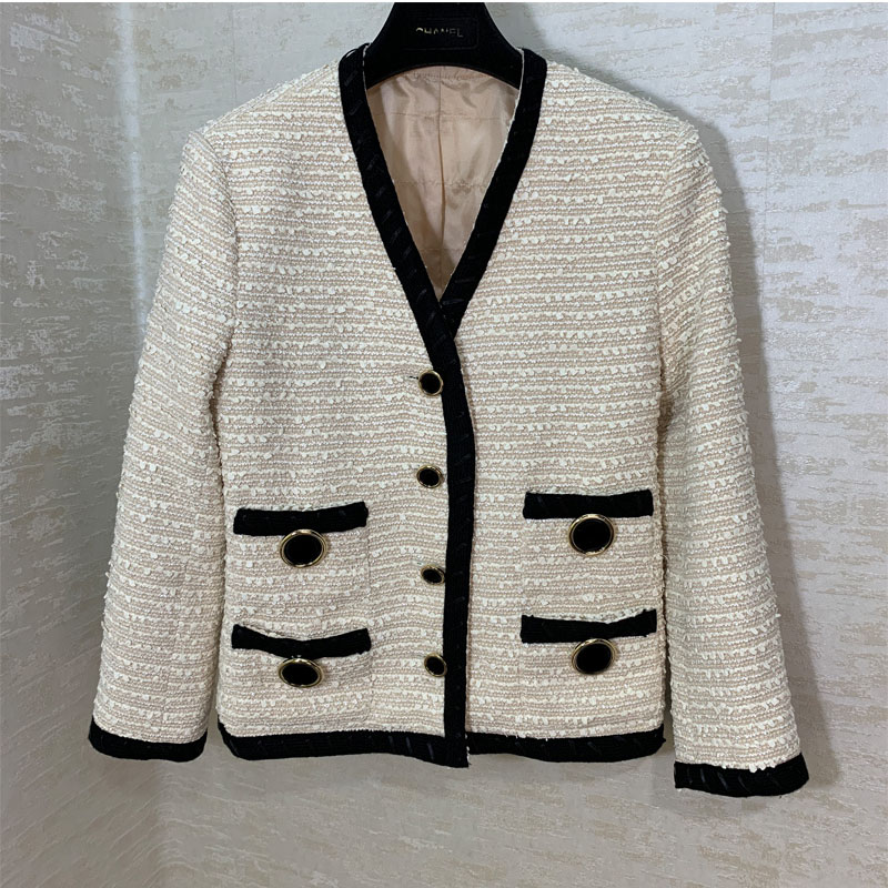GG high end custom fashion white women s coat runway fashion jacket