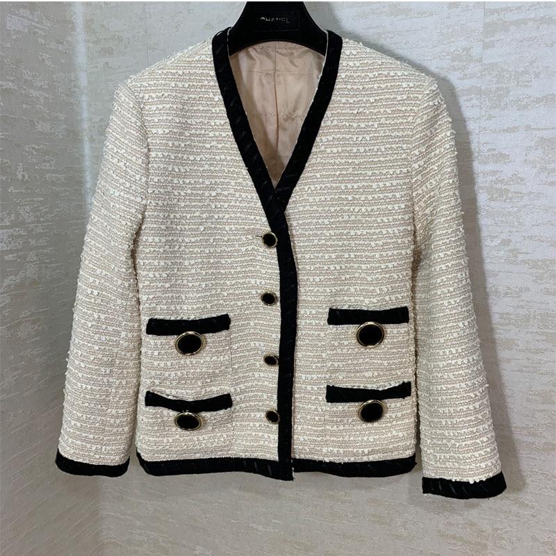 GG high end custom fashion white women's coat runway fashion jacket-in Jackets from Women's Clothing    1