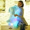 Бесплатная доставка Новый Год 50 СМ Длина Творческий Вечер Свет ПРИВЕЛ Прекрасный собака Чучела и Плюшевые Игрушки Лучшие Подарки для Детей и Друзей
