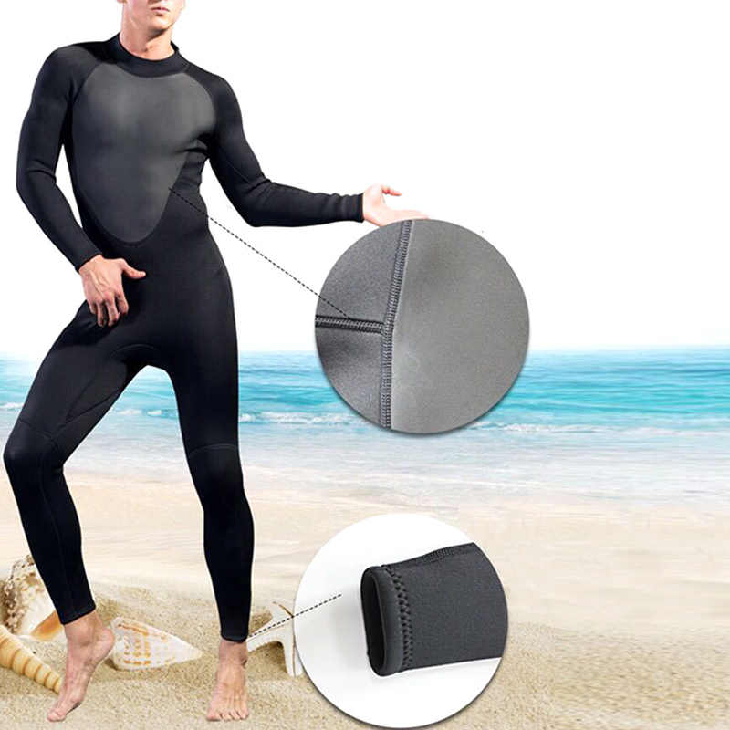 High Quality Men Full Bodysuit Wetsuit 3mm Diving Suit Stretchy Swimming Surfing Snorkeling MSD-ING