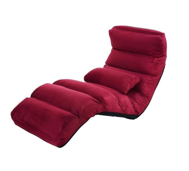 Gaming Lounge Chair High Back Cane Dining Chairs Folding Lazy Sofa Floor Couch Beds Adjustable With Pillow Home Linving Room Japanese Furniture