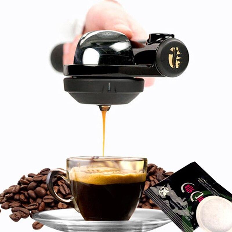 Portable machine à café 16Bar Main Pression machine à expresso En Plein Air Voyage Manuel Machine À Café Noir 44-46mm Café Gâteau Filtre