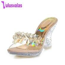 db41a78449 VulusValas Mulheres Elegantes Sandálias de Salto Alto Chinelos de Verão  Sapatos de Salto Bowtie Beading Flor