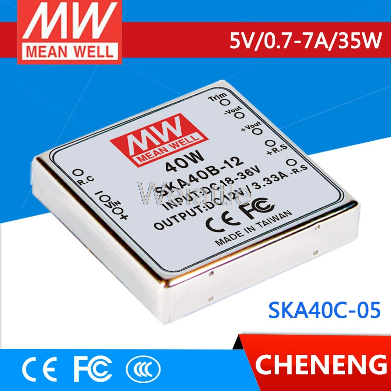 MEAN WELL original SKA40C-05 5V 7A meanwell SKA40 5V 35W DC-DC Regulated Single Output ConverterMEAN WELL original SKA40C-05 5V 7A meanwell SKA40 5V 35W DC-DC Regulated Single Output Converter