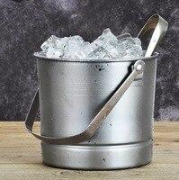 Stainless steel ice bucket bar KTV portable ice cream barrel club small ice bucket with diaphragm