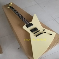 New type of high quality special shaped electric guitar, goose Explorer electronic guitar cream, color electromyography pickup.