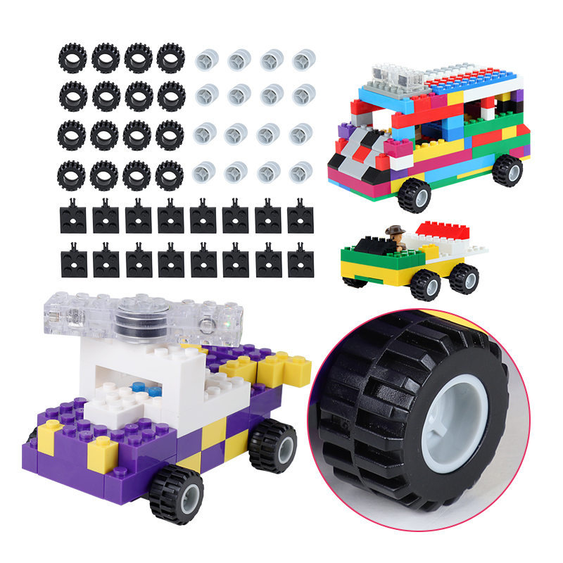 все цены на DIY Car Wheels /Figures/Window For Classic Blocks 100g /Pack Complement Blocks Educational Toy Compatible With Blocks онлайн